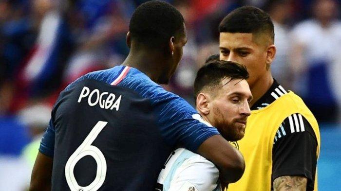 Hasil Pertandingan Perancis vs Argentina, Pogba Tunjukkan Rasa Sportivitas Kepada Messi