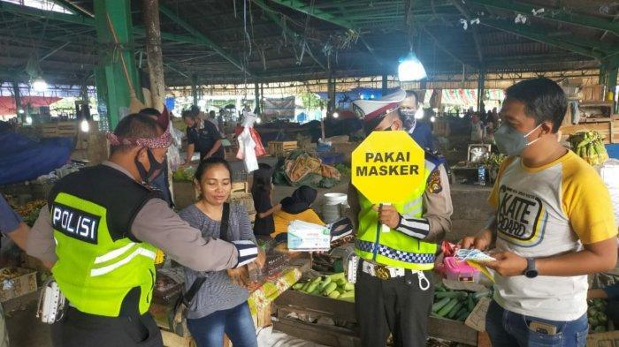 Tim Peci Polisi Dulur Kito Sat Lantas Polrestabes Palembang Melakukan Sosialisasi Cegah Covid-19
