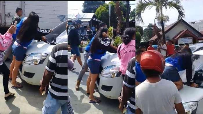 Terpergok Bersama Pelakor Dalam Mobil, Oknum Polisi Nyaris Tabrak Anak Sendiri, Videonya Viral!