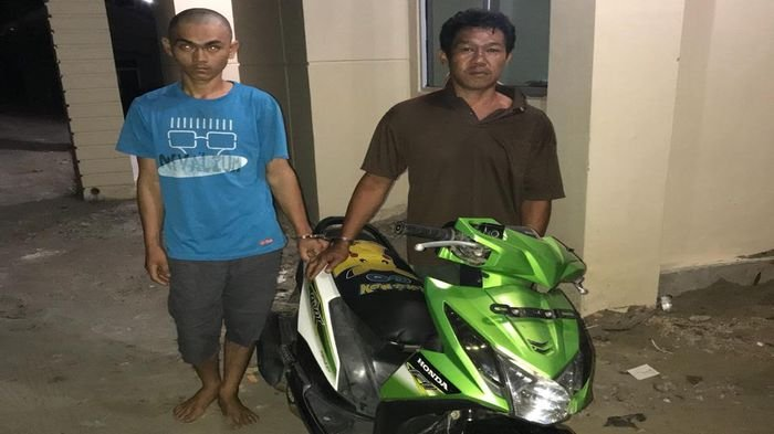 Bawa Kabur Honda Beat dari Arena Orgen Tunggal, Dua Pria Ini Masuk Jeruji Besi Polres Lahat