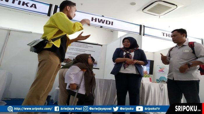 Penyandang Disabilitas Bersaing dengan Pelamar Umum, Ikuti Job Fair yang Digelar Poltekpar Palembang