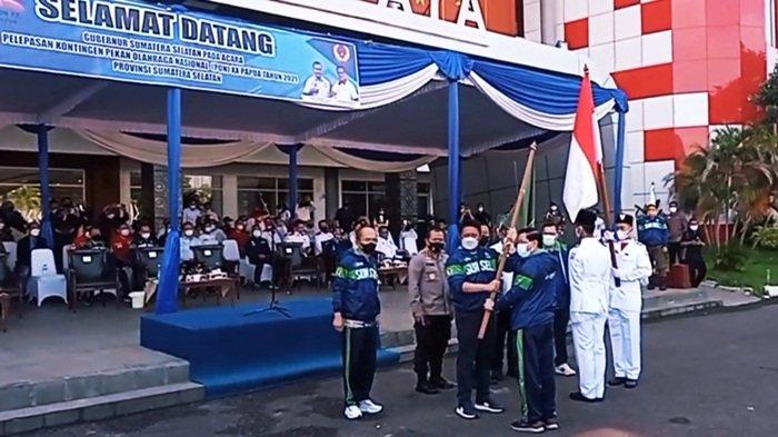 Lepas Kontingen Sumsel ke PON 2021, Gubernur Sumsel Minta Atlet Jangan Dihantui Kondisi Papua