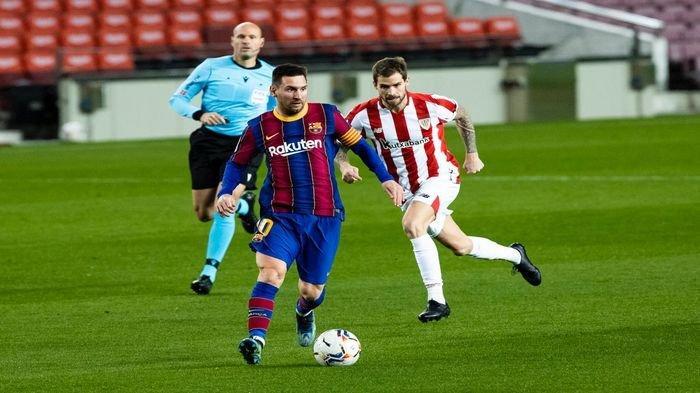 Babak Pertama Barcelona Vs PSG Imbang, Messi 2x Perlihatkan Ekspresi Kecewa