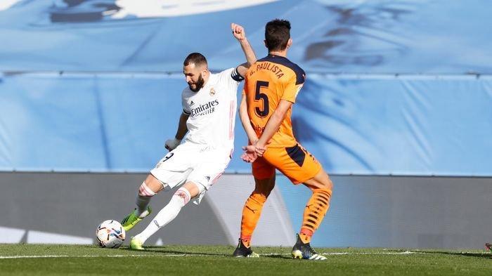 Antar Real Madrid Gulingkan Valencia, Karim Benzema Bikin Trauma Los Murcelagos