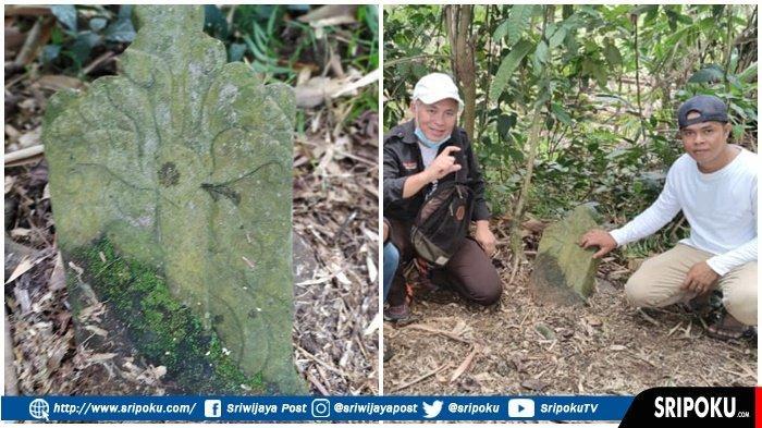 BATU Nisan Motif Ukiran Kuno Ditemukan di Pemakaman Puyang Tanjung Merapi Lahat, Ini Penampakannya!