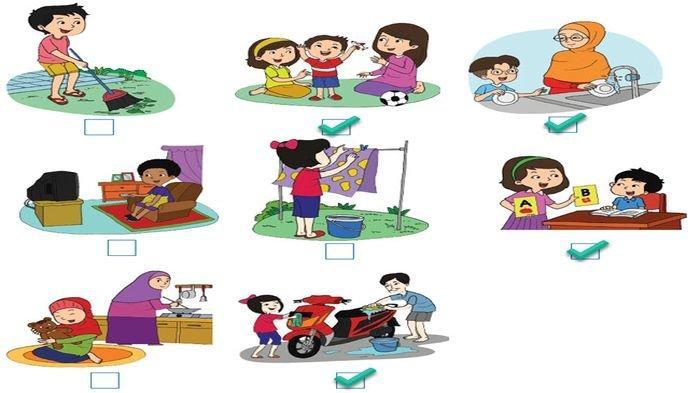 KUNCI JAWABAN Buku Tematik Tema 4 Kelas 4 Halaman 45, 46, 49 Pembelajaran 6 Materi Jenis Pekerjaan