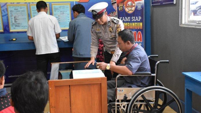 Sambut HUT Bhayangkara ke-73 Tahun, Polres Muba Sediakan SIM Gratis bagi Penyandang Disabilitas