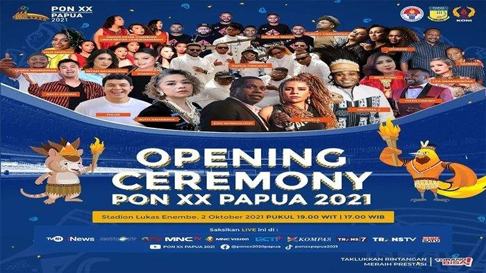 Inilah Deretan Artis yang akan Memeriahkan Acara Pembukaan PON XX Papua 2021, Ada Tulus dan Uthe