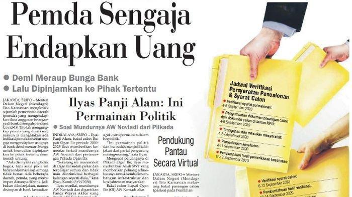 Mendagri Tito: Pemda Sengaja Endapkan Uang Demi Meraup Bunga Bank