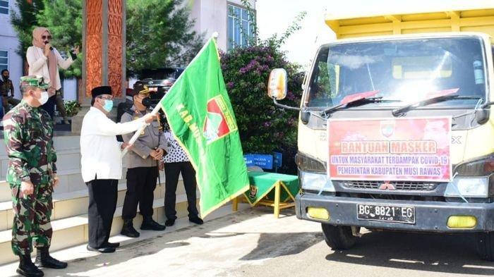 Pemkab Musirawas Salurkan 200 Ribu Masker Kain untuk Masyarakat di 14 Kecamatan