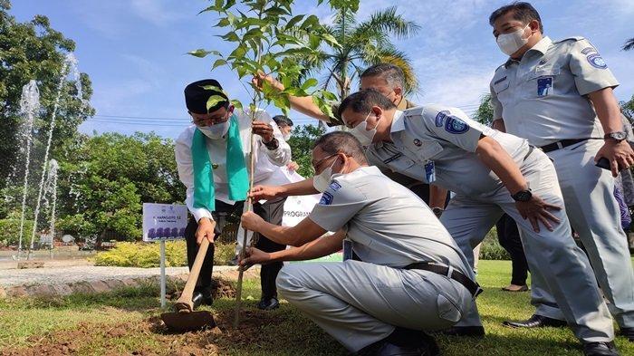 Peduli Alam Sejuk dan Asri, Jasa Raharja Sumsel Donasikan 142 Pohon Tabebuya ke Pemkot Palembang