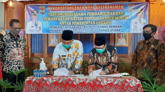 Kabupaten Musirawas Kerjasama Pemanfaatan Suplai Air Bersih untuk Dua Desa di Muratara