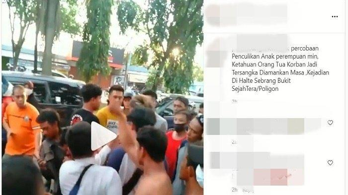 HEBOH Penculikan Anak di Halte Poligon, Pelaku Sempat Dihadiahi Bogem Mentah: Polisi Turun Tangan