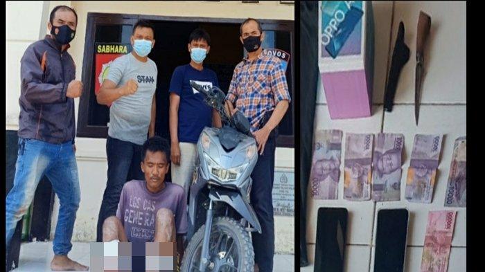 Wajahnya Terekam CCTV, Pencuri di Muara Telang Banyuasin Ini Mau Kabur Saat Ditangkap Polisi