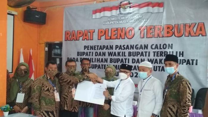 KPU Muratara Tetapkan Devi Suhartoni dan Inayatullah sebagai Bupati dan Wabup Terpilih Pilkada 2020