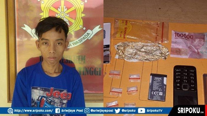 Pengedar Narkoba di Muba Ini Pasrah Dirazia Petugas Polsek Plakat Tinggi, BB Enam Paket Sabu-sabu