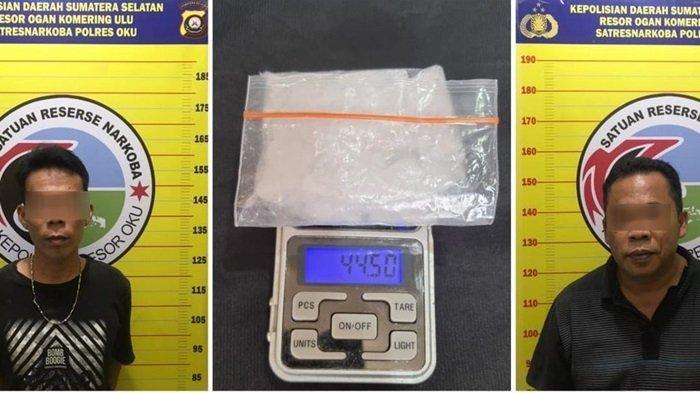 Dua Pengedar Narkoba Asal OKU Timur Diciduk Polres OKU, Ada Sabu di Bawah Meja