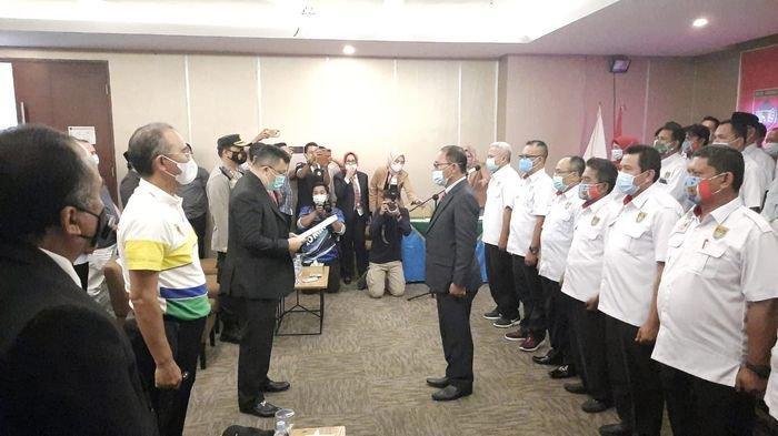 Kepengurus KONI Musi Rawas Dikukuhkan, Hendra Gunawan Yakin Raih Prestasi Tiga Besar Pada Porprov