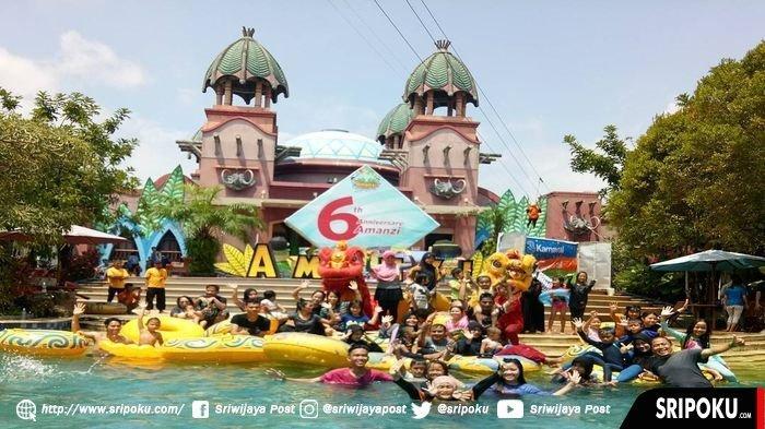 Libur Tahun Baru Imlek 2570, Taman Wisata Air Amanzi Waterpark Palembang Dipadati Pengunjung