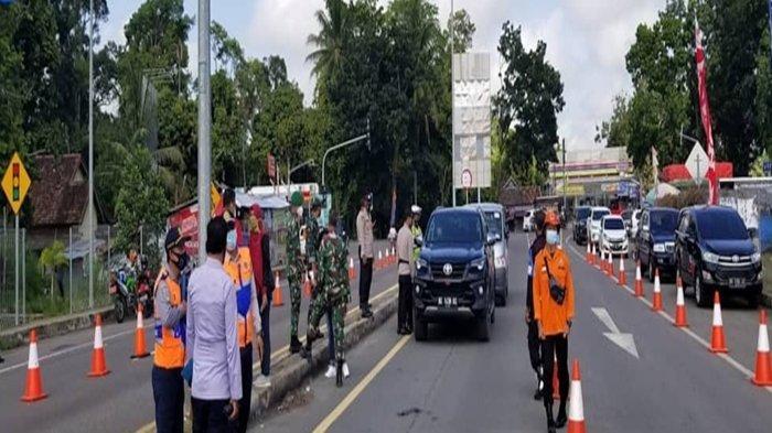 PPKM Mikro di Palembang, Polres OKI Pasang Penyekatan di Exit Tol Celikah, Ini Syarat Jika Mau Lewat