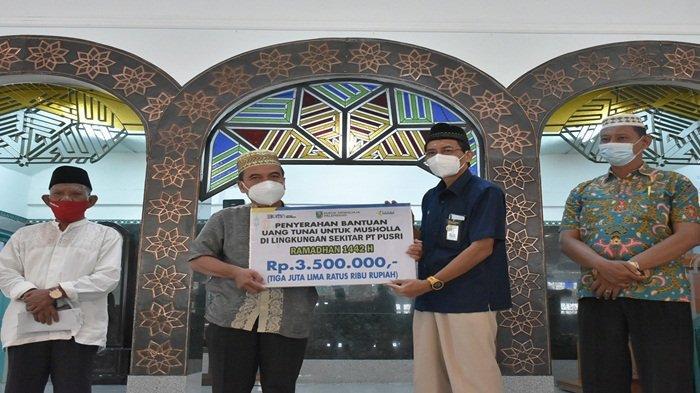 Perusahaan PT PUSRI Bantu Operasional Masjid Saat Pandemi