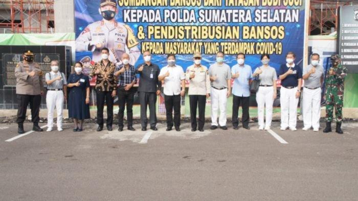 Bantuan Pengusaha Peduli NKRI Jangkau Sumsel, Diterima Kapolda Sumsel Berupa 30.000 Paket Sembako