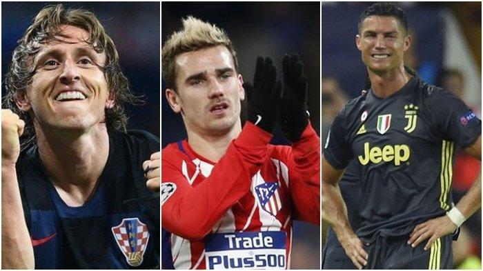 Luka Modric Dapat Tropi Bola Emas, Berikut Daftar Lengkap Peringkat Pemain Terbaik Ballon d'Or 2018