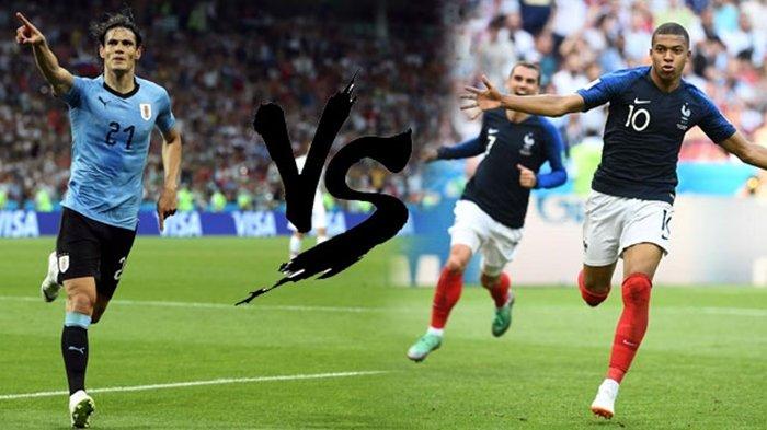 Babak Perempat Final, Ini Analisa dan Prediksi Pertandingan Piala Dunia 2018 Uruguay vs Perancis