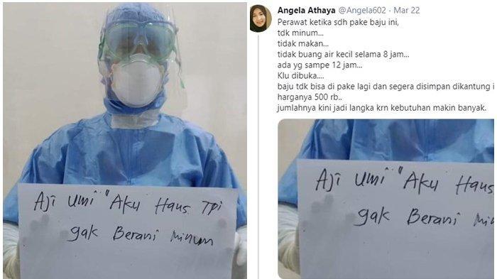 VIRAL Foto Perawat Pakai Baju Hazmat Tulis Pesan Menyayat Hati di Secarik Kertas Ungkap Tak Berani!