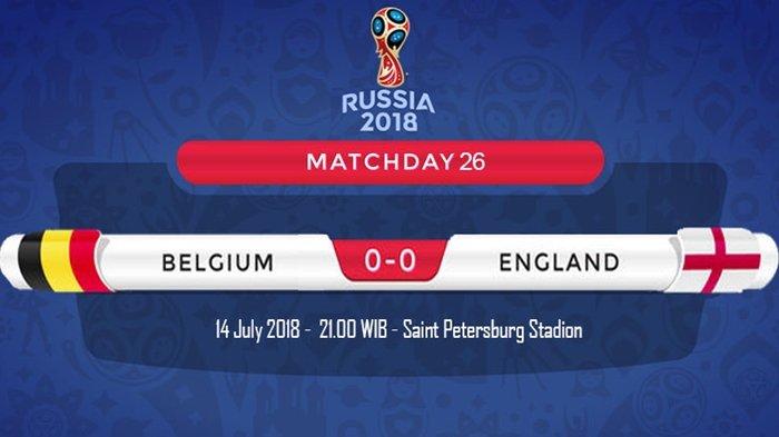 Duel Merebut Juara 3 Piala Dunia 2018 Belgia vs Inggris, Cara Nonton lewat Telkomsel, Indosat dan XL