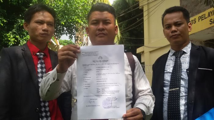Tim Advokasi Sarimuda Laporkan Oknum LSM ke Polda Sumsel