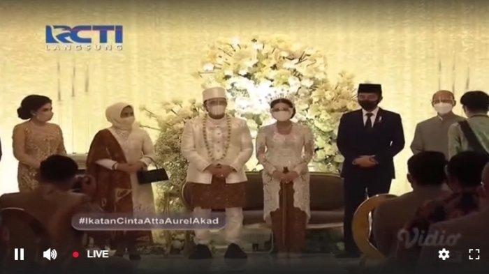 Pernikahan Atta Halilintar dan Aurel Hermansyah dihadiri Jokowi