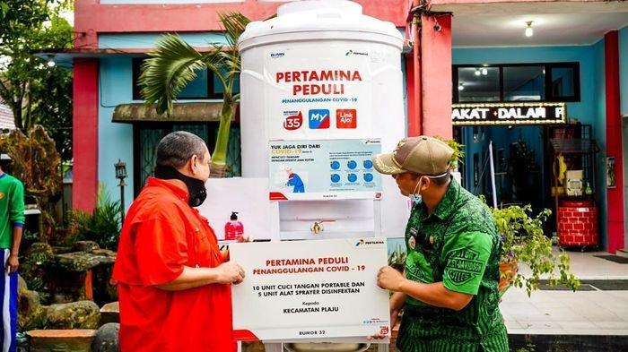 Pertamina Peduli Bantu 30 Unit Wastafel Portabel, Bersama Lawan COVID-19