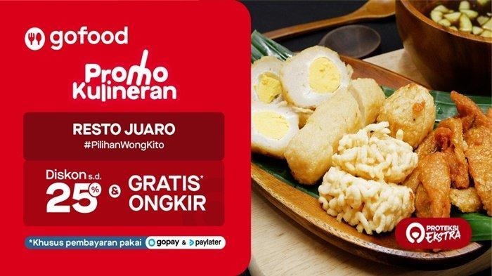 Lewat Program Resto Juaro #PilihanWongKito, kamu bisa menikmati menu-menu eksklusif di semua restoran ngetop di Palembang yang cuma akan kamu temui di GoFood