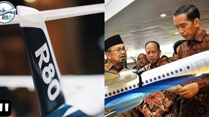 Sudah Dipesan 155 Unit, Pesawat R80 BJ Habibie Jadi 4 Tahun Lagi, Sriwijaya Air Pemesan Terbanyak