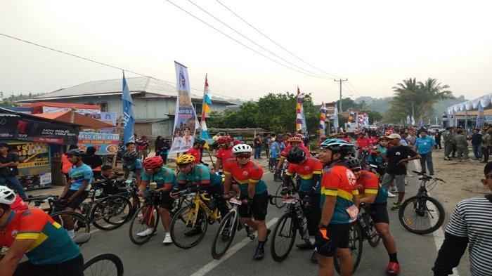 Peserta Sriwijaya Ranau Gran  Fondo Tempuh Jarak 115 KM