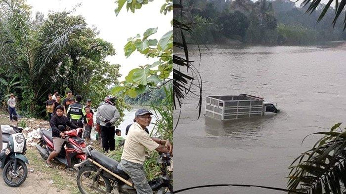 Kecelakaan di OKU Selatan, Pikap Terjun ke Sungai Komering di Muaradua, Korbannya Ayah dan Anak
