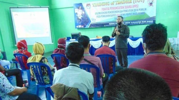 Persiapan Coklit Data Pemilih, Anggota PPS se Kabupaten Musirawas Ikuti TOT