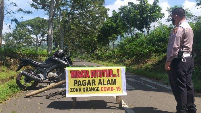 PINTU Masuk Gunung Dempo Dijaga Ketat Polisi, Seluruh Objek Wisata di Kota Pagaralam Ditutup