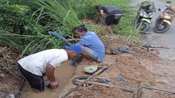 Daftar Wilayah yang Distribusi Airnya Terganggu Usai Pipa PDAM di Simpang Tiga TPU Pelita Sari Bocor