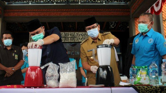Pjs Bupati Musirawas Musnahkan Barang Bukti Narkoba Bersama Forkopimda dan BNN