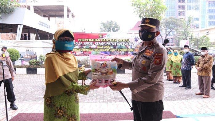 Jenderal Eko Terus Berupaya Mendistribusikan Sembako Melalui Pengurus Wilayah Aisyiyah Sumsel