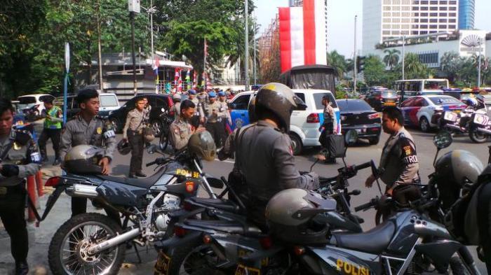 Pendukung Prabowo Rusuh, Polisi Siaga di Bundaran HI