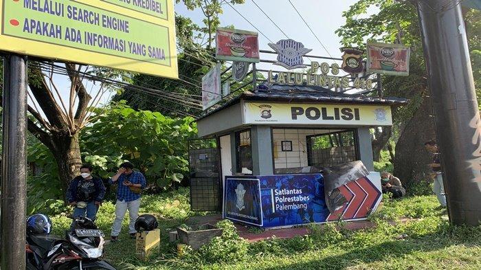BREAKING NEWS : Polisi Lalu Lintas Ditusuk OTK di Pos Angkatan 66 Palembang, Korban Terluka Parah