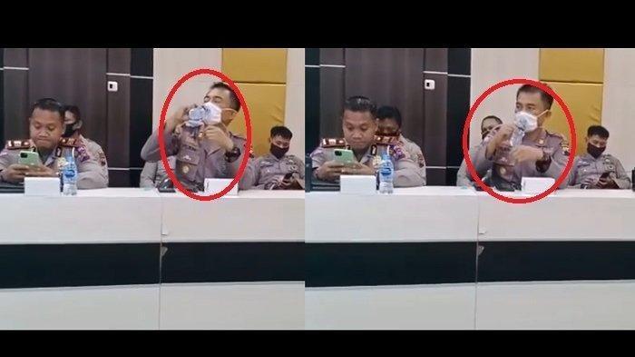 Jenderal Petinggi Polri Sebar Video Polisi Lupa Lepas Masker Saat Minum, Langsung Direspon dan Viral