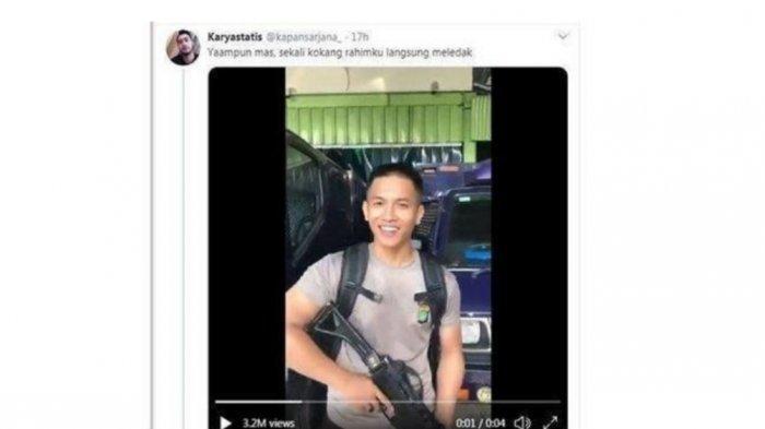 Polisi Viral Sombong Kokangkan Senjata Sambil Bilang 'Pacar Kamu Ganteng, Kaya' Bukan Taruna Akpol