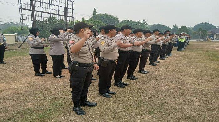 Polres Banyuasin Siagakan Pasukan Pengaman Pelantikan Presiden dan Wakil Presiden