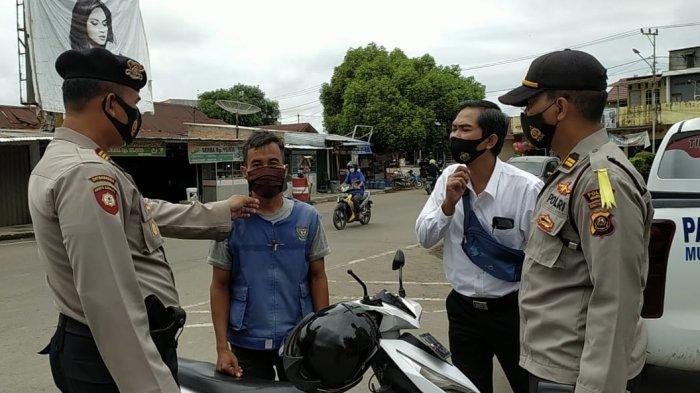 Prokes Kendor, Polres Muara Enim Gelar Operasi Yustisi, Kumpulan Lebih dari 3 Orang Dibubarkan