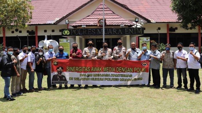 Gelar Silaturahmi Bersama Awak Media, Kapolres Muara Enim: Kritik & Saran Itu Perlu