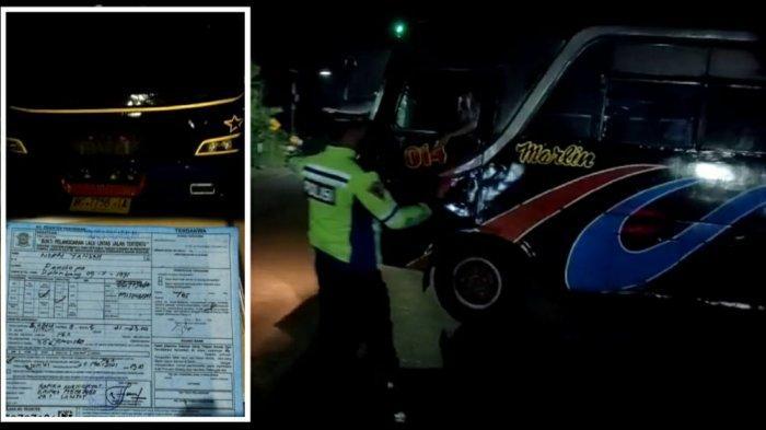 Satu Unit Bus Penumpang Terobos Pos Penyekatan yang Dijaga Petugas di Malam Hari, Ini yang Terjadi!